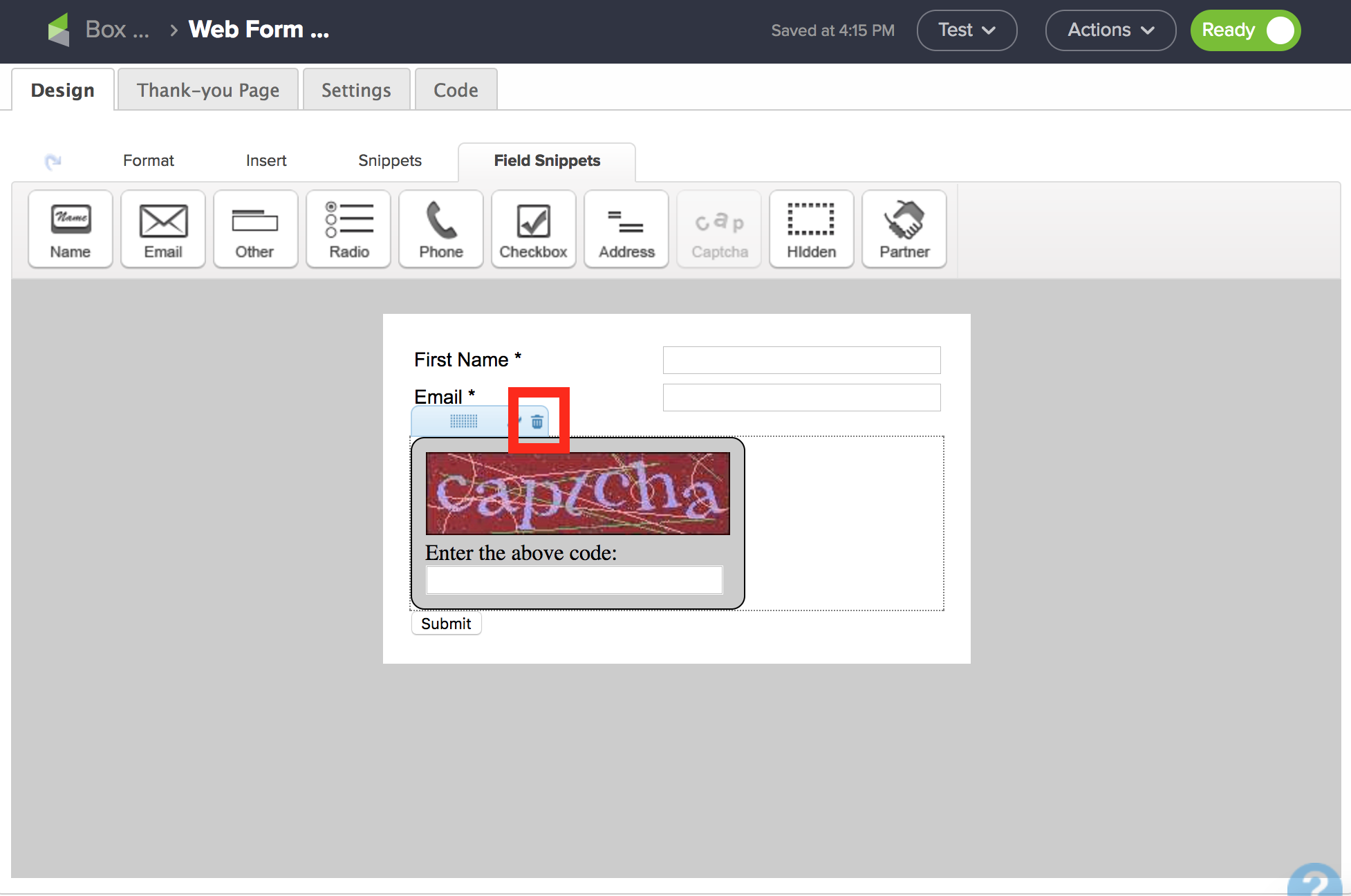 infusionsoft recaptcha update