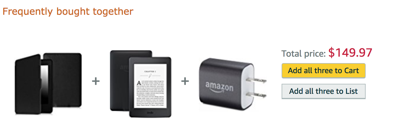 Amazon frequently bought together