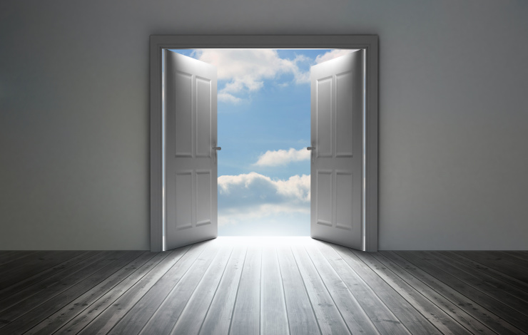 door opening to freedom
