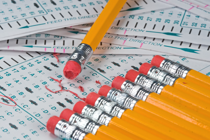 scantron and pencils