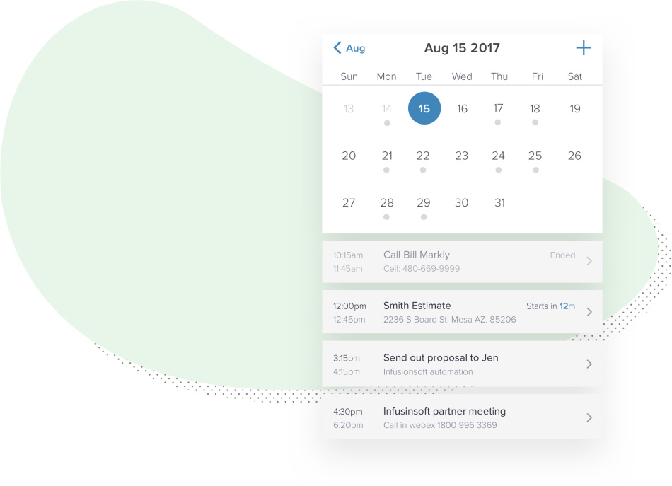 Continually update your calendar based on your activity.