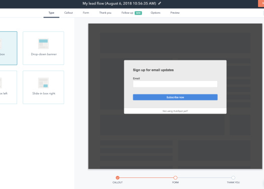 Picture of Hubspot form builder
