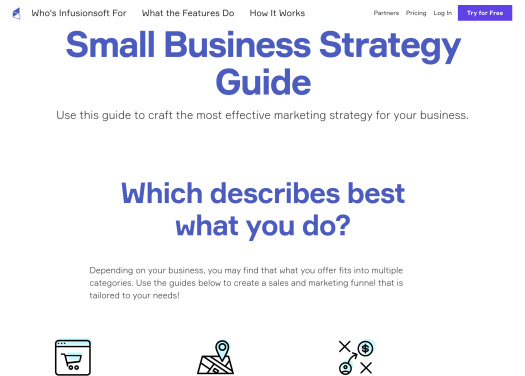 Image of Infusionsoft strategy guide