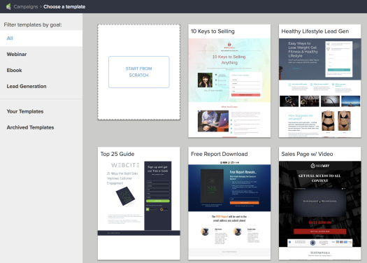 Picture of Infusionsoft landing page templates