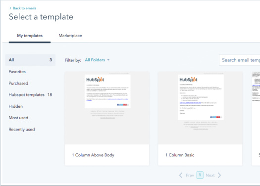 Hubspot email template