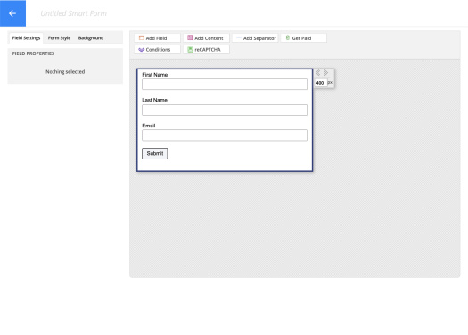 Picture of Ontraport form builder