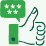 Icon depicting a 5 star review
