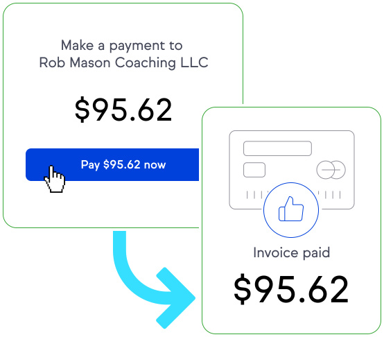 Make it easy for your client to pay you with pay now buttons in your invoices.
