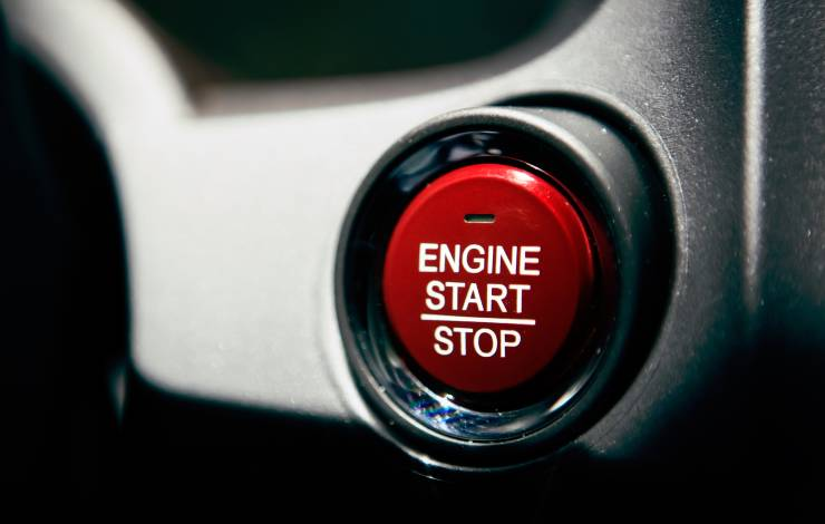 ignition start button in car