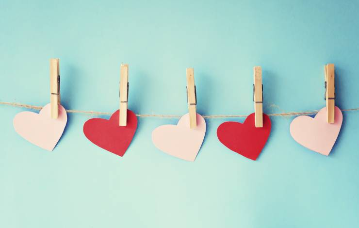 hearts on clothesline