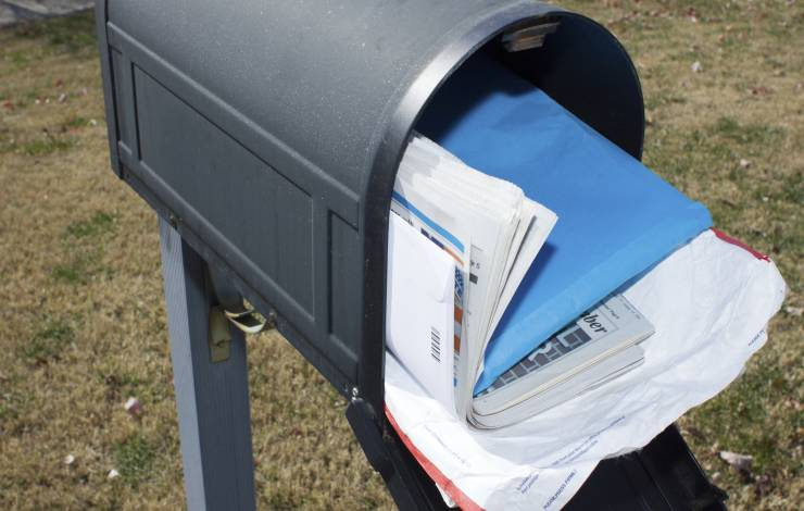 mailbox overflowing with mail