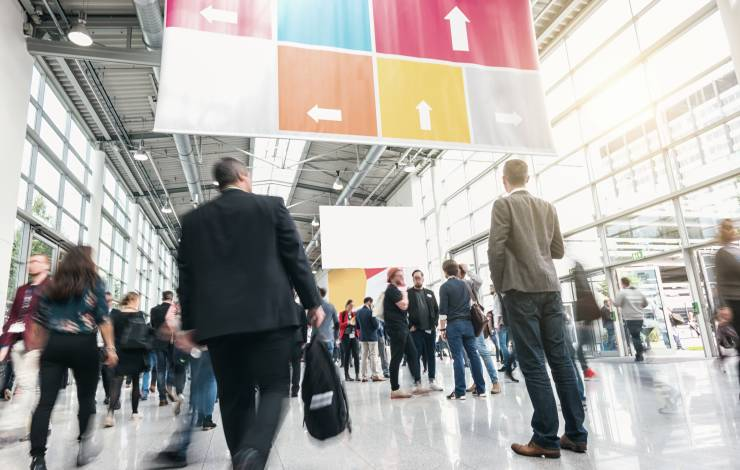 Business People at a trade fair