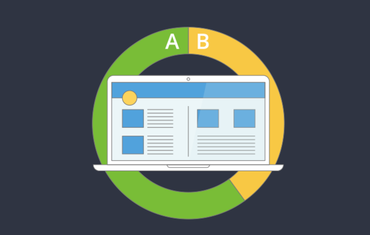 A/B testing illustration