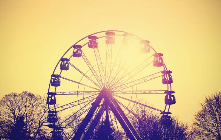 ferris wheel with instagram filter