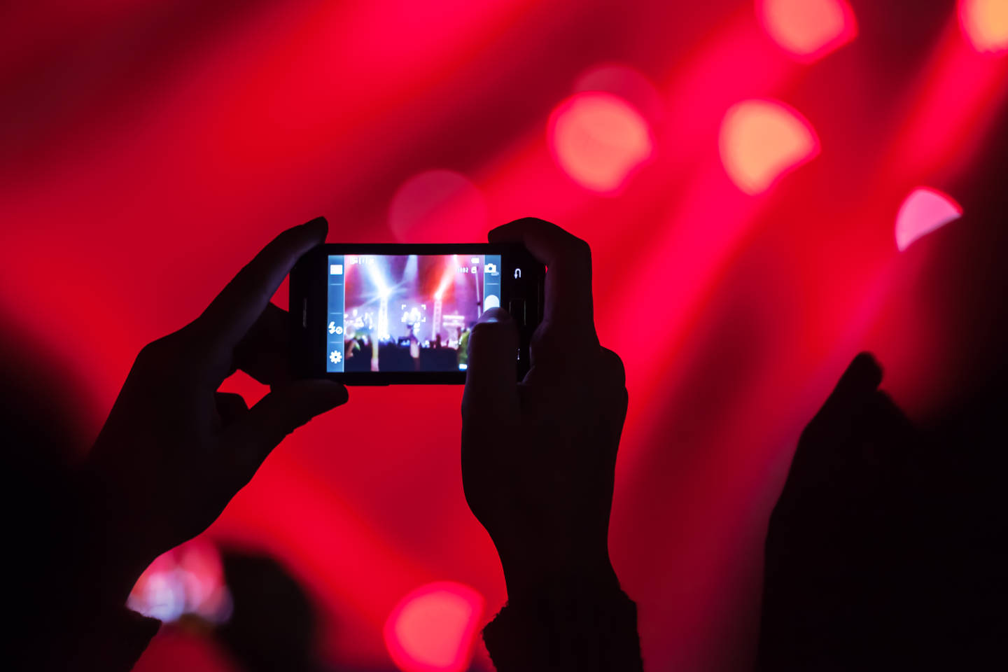 shooting a video at a concert