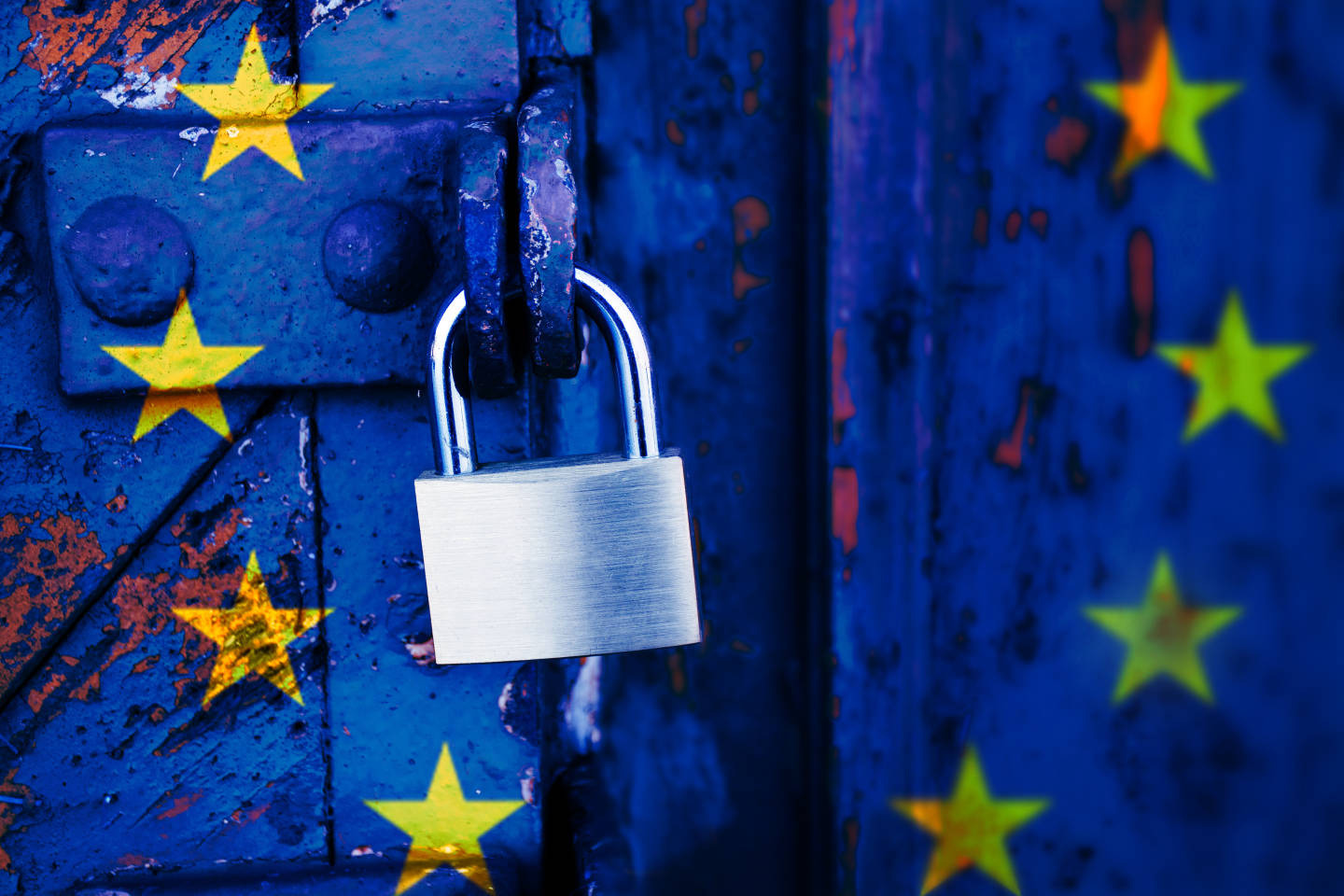 EU flag with padlock GDPR
