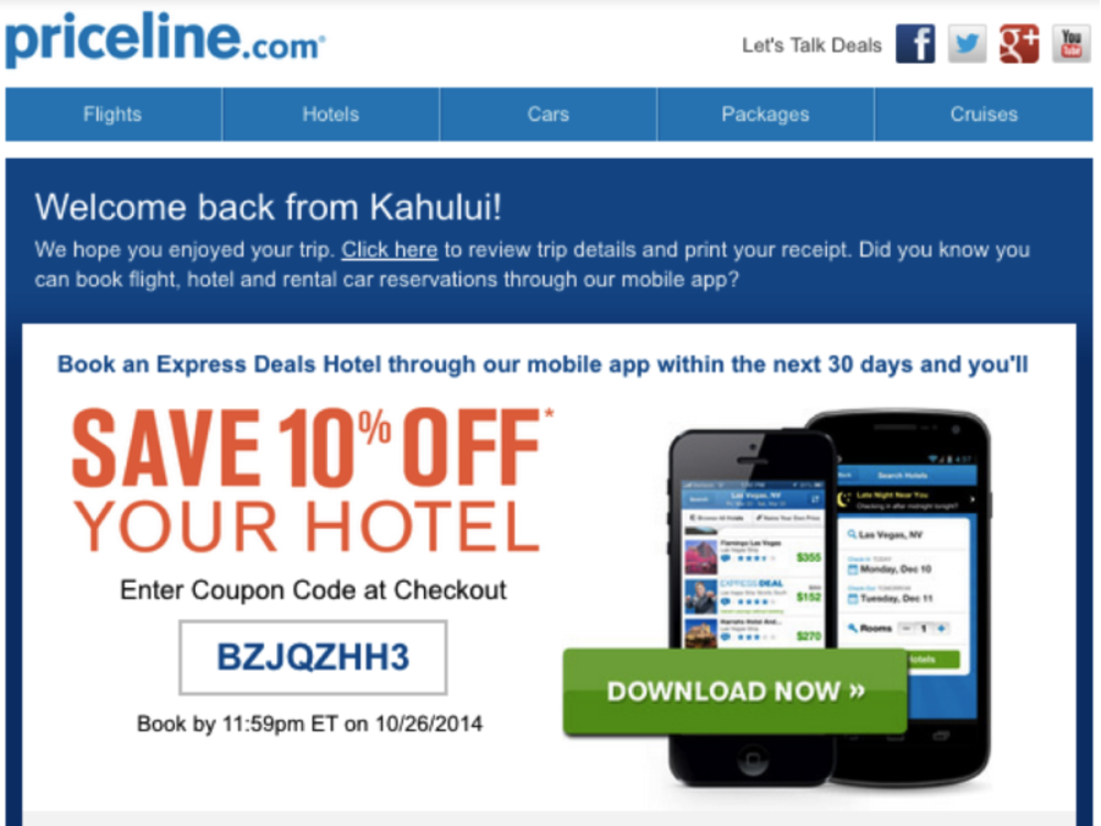 Priceline example
