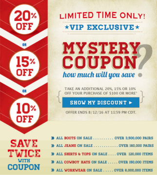 49f6736f Why it works: This is another good use of mystery and suspense. At the very  least, you'll get a lot of people clicking through to see what kind of  discount ...