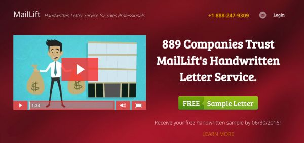 MailLift sample latter ad