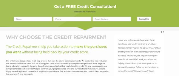 The complete small business guide to capturing leads credit repairmen free consult ad fandeluxe Image collections