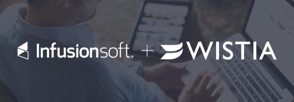 Infusionsoft and Wistia logos