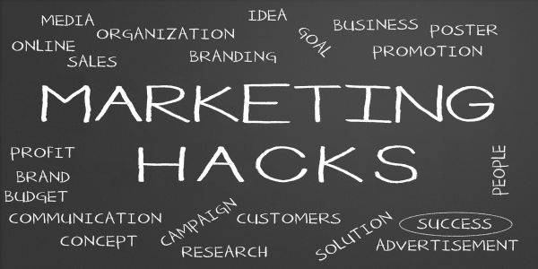 marketing hacks word collage