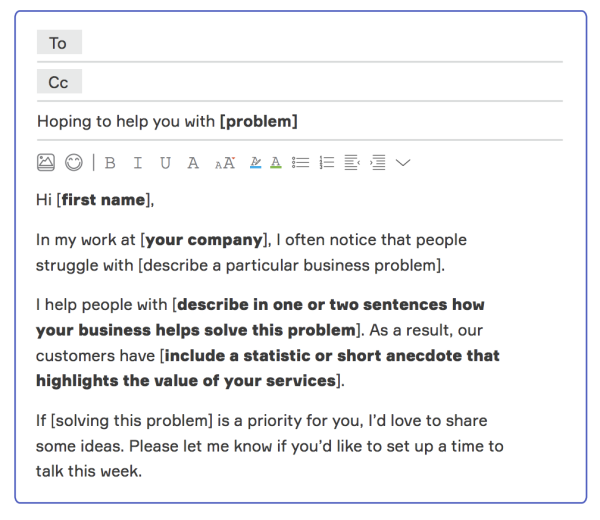 solution to a problem email