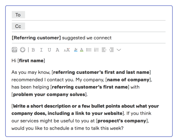 referral email