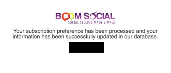 Boom Social unsubscribe