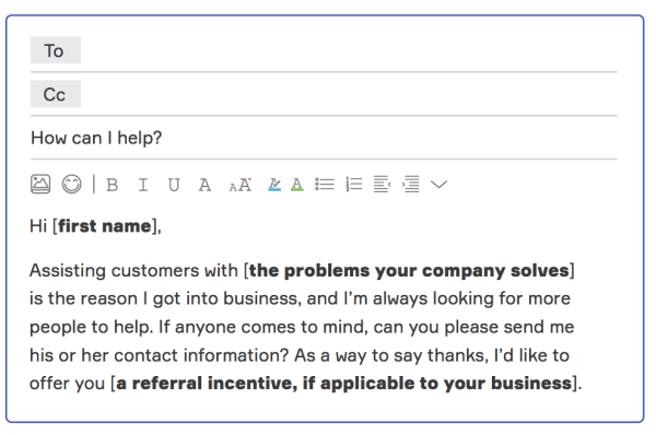 referral request