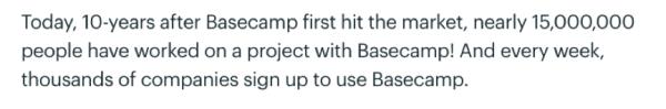 Basecamp's evolution