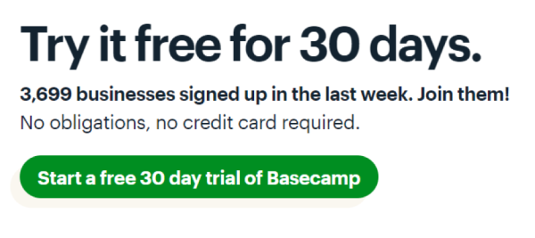 Basecamp example