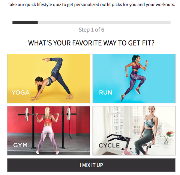 Fabletics choose-your-style