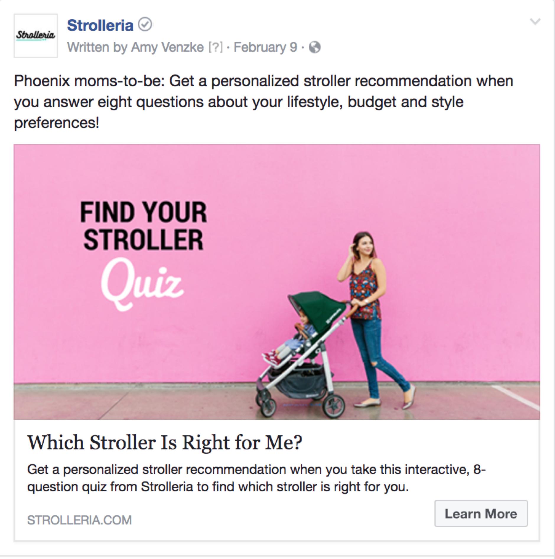 strolleria facebook quiz
