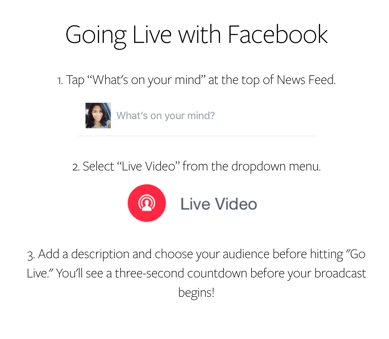 Going Live with Facebook Instructions