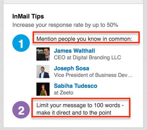 people in common inmail linkedin meaning