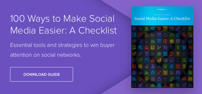 Download our guide, 100 Ways to Make Social Media Easier: A Checklist