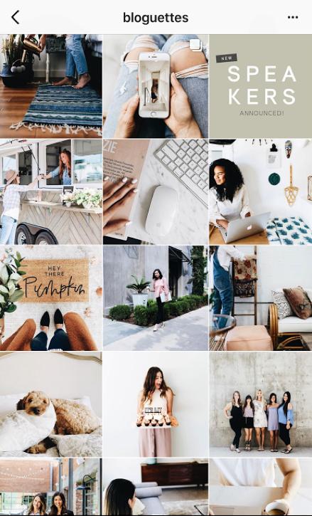 instagram marketing cohesive theme