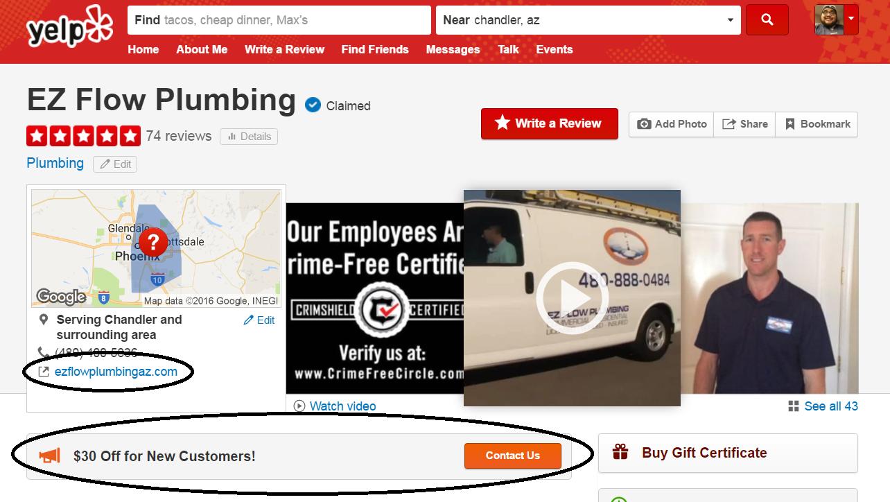 EZFlow plumbing Yelp listing.png