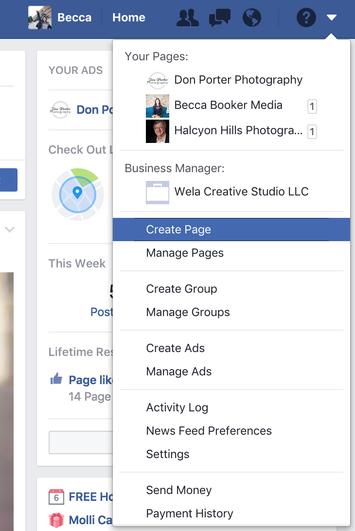 Create Facebook page screen shot.png