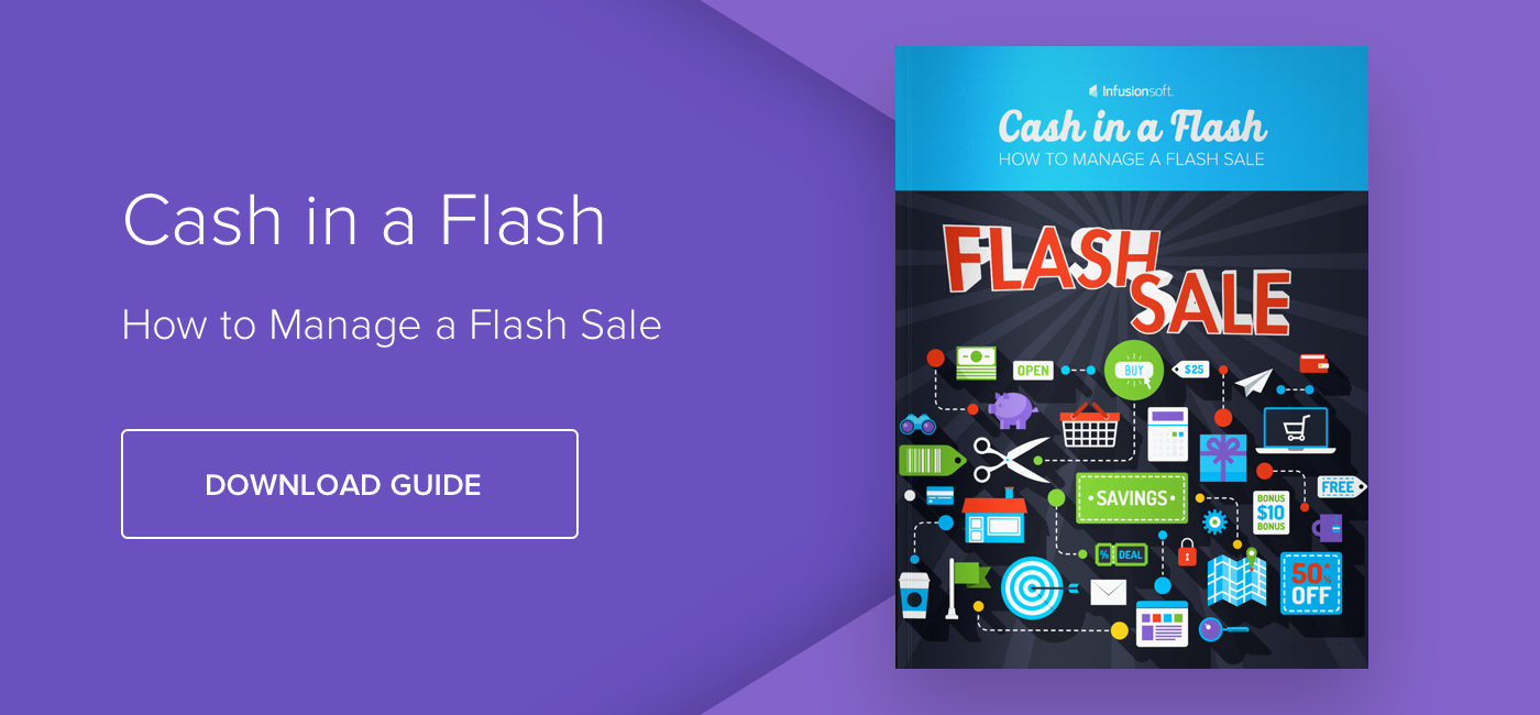 Cash in a Flash: How to Manage a Flash Sale - Download Now