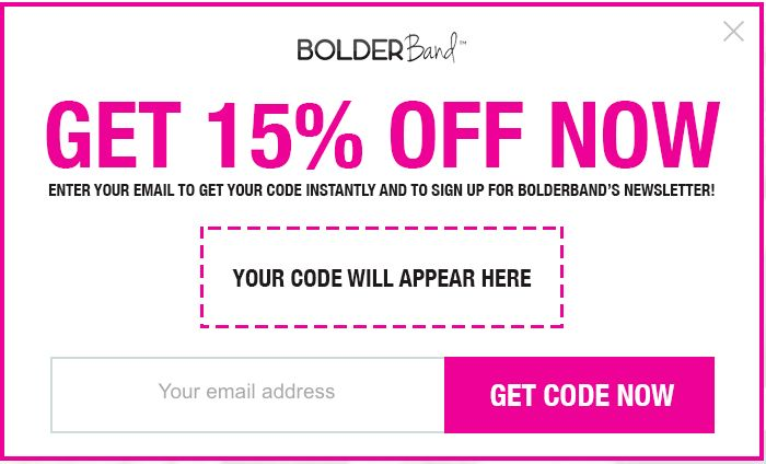 BoulderBand discount coupon example