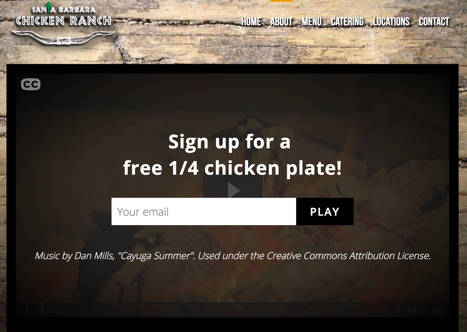 Screenshot of Santa Barbara Chicken Ranch video