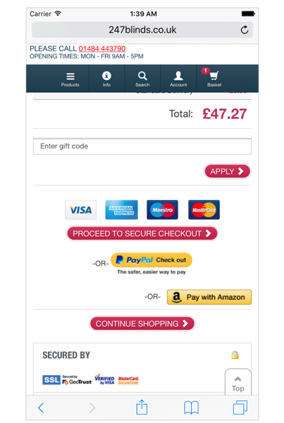Secure checkout example